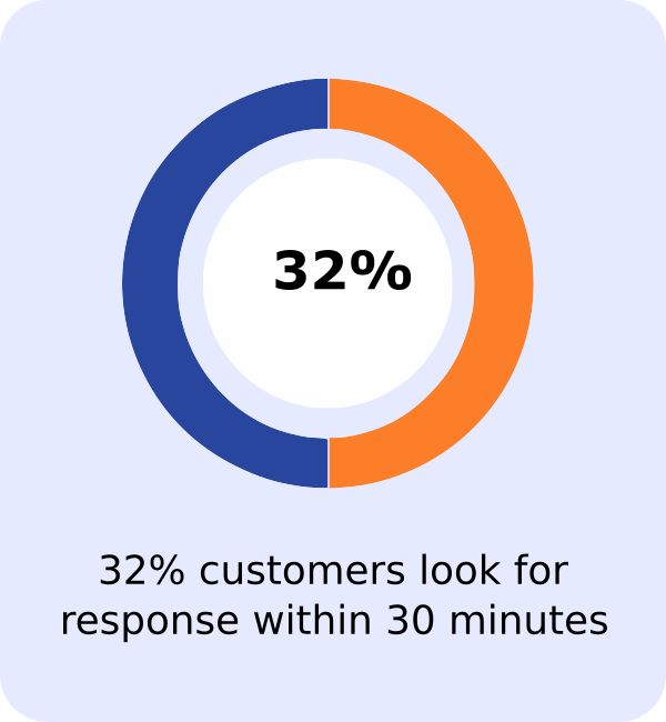 Customer expectations from using Artificial Intelligence to provide speed of response