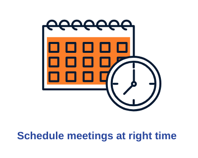 AI for scheduling meeting at right time