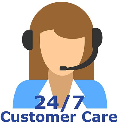 24x7 customer care